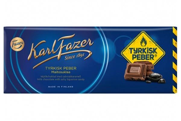 Karl Fazer Milk Chocolate Tyrkisk Peber- Angebot! (MHD 02.20) statt 4,50 €