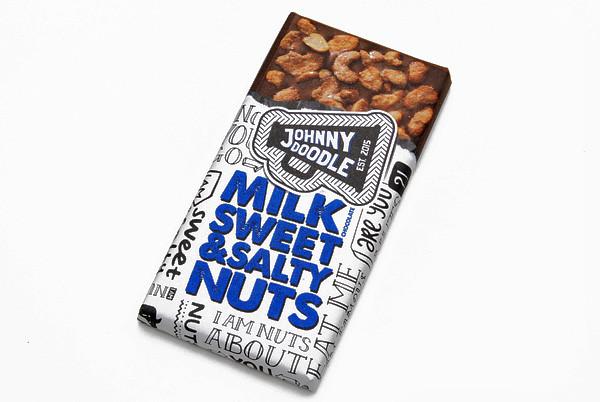 Johnny Doodle Vollmilchschokolade mit salzigen Nüssen