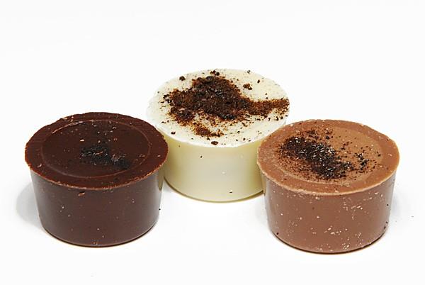 Schoko Topf mit Lakritzfudge, Weiße, VM und ZB Schokolade