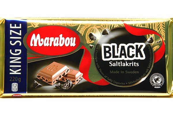 Marabou Vollmilchschokolade Black Saltlakritz